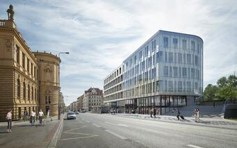Bastion Florenc - a new building on the border of the center of Prague and Karlín is under construction